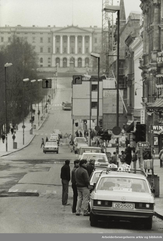 Karl Johans gate. April 1984