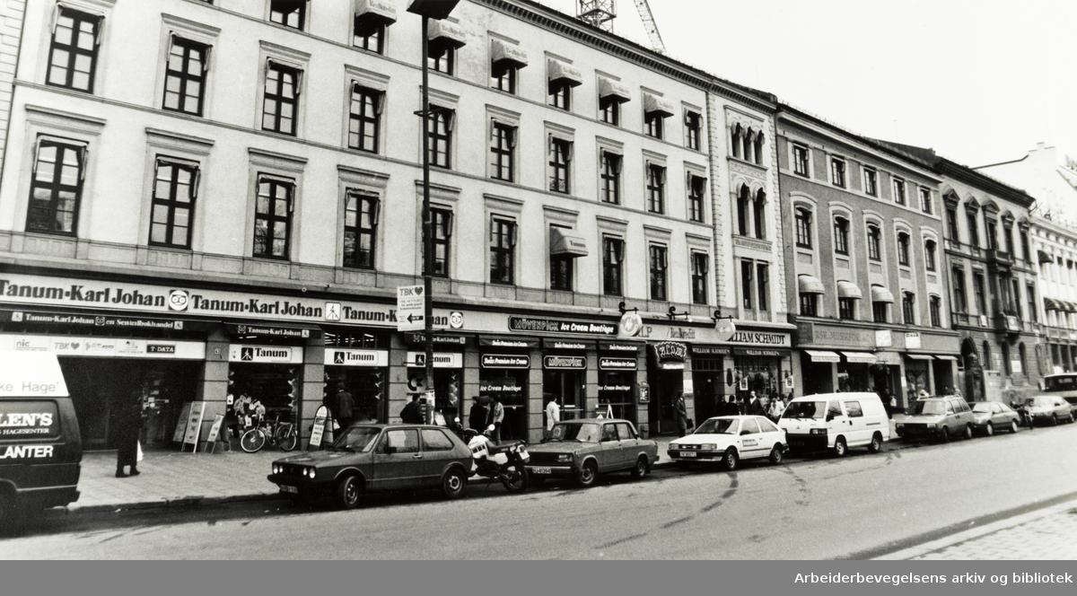 Karl Johans gate. April 1989