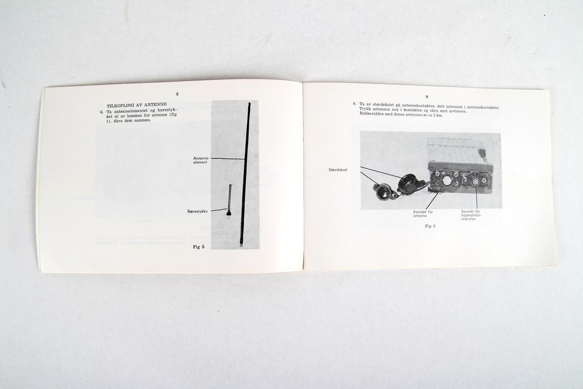 Lærebok i Radiosett SEM 52 N, Forsvarets brevskole.