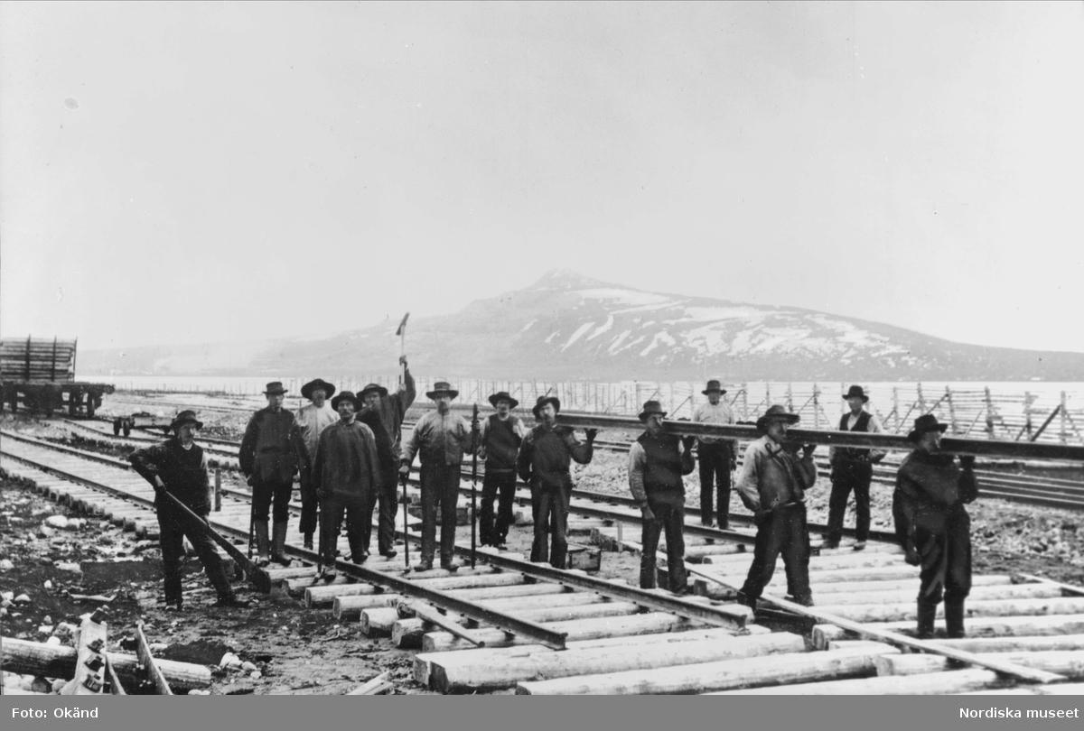 """Rallare. Senhösten 1900 kom """"tippen"""" till Kiruna."""