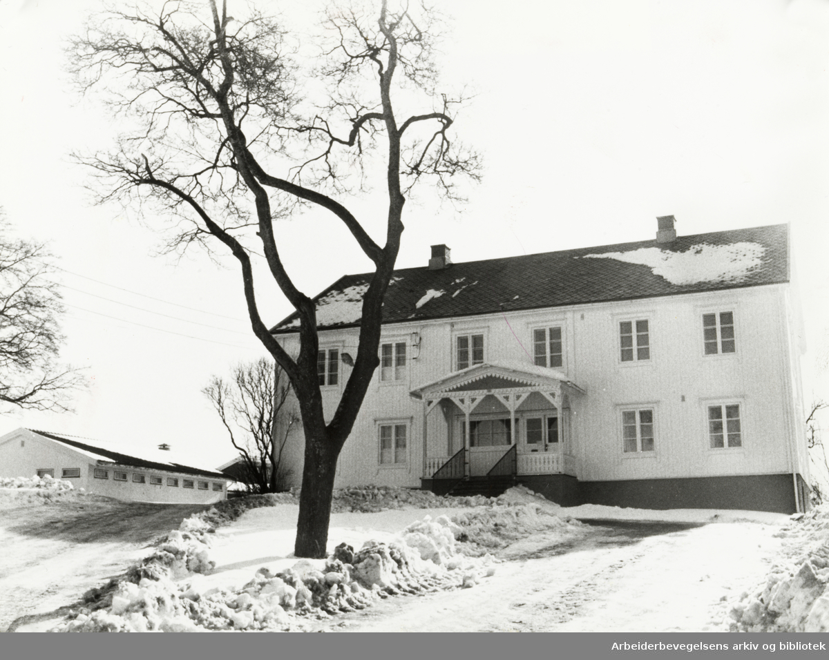 Lambertseter Hovedgård. Mars 1981