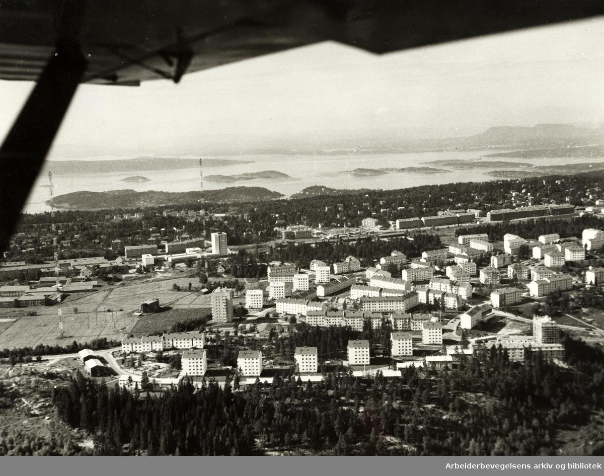 Lambertseter. Flyfoto. September 1958