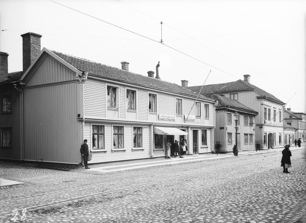 Hörnet vid Strandgränd och Östra Storgatan nr 75 i Jönköping.