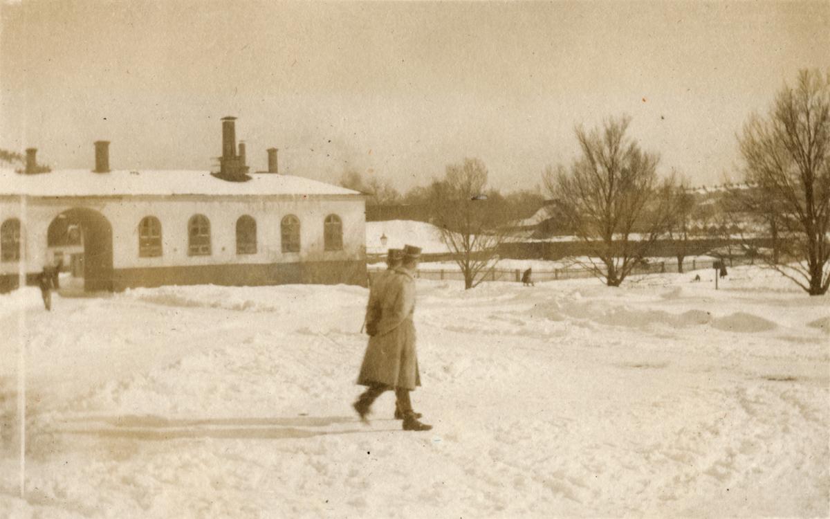 Karlbergs slott vintertid.
