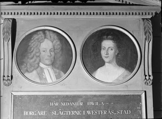 Detalj i epitafium över familjen Gudmundsson-Wulff, Västerås Domkyrka.