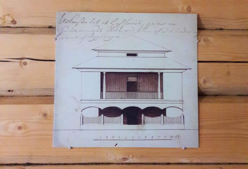 Tegning av det originale lysthuset.