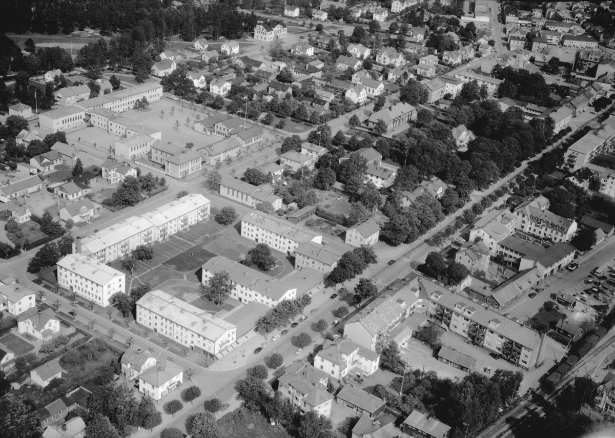 Flygfoto över Vetlanda i Jönköpings län. Nr: 1026/1961