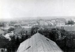 Utsikt från kyrktornet mot öster.