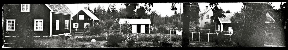 Bostadshus med trädgård