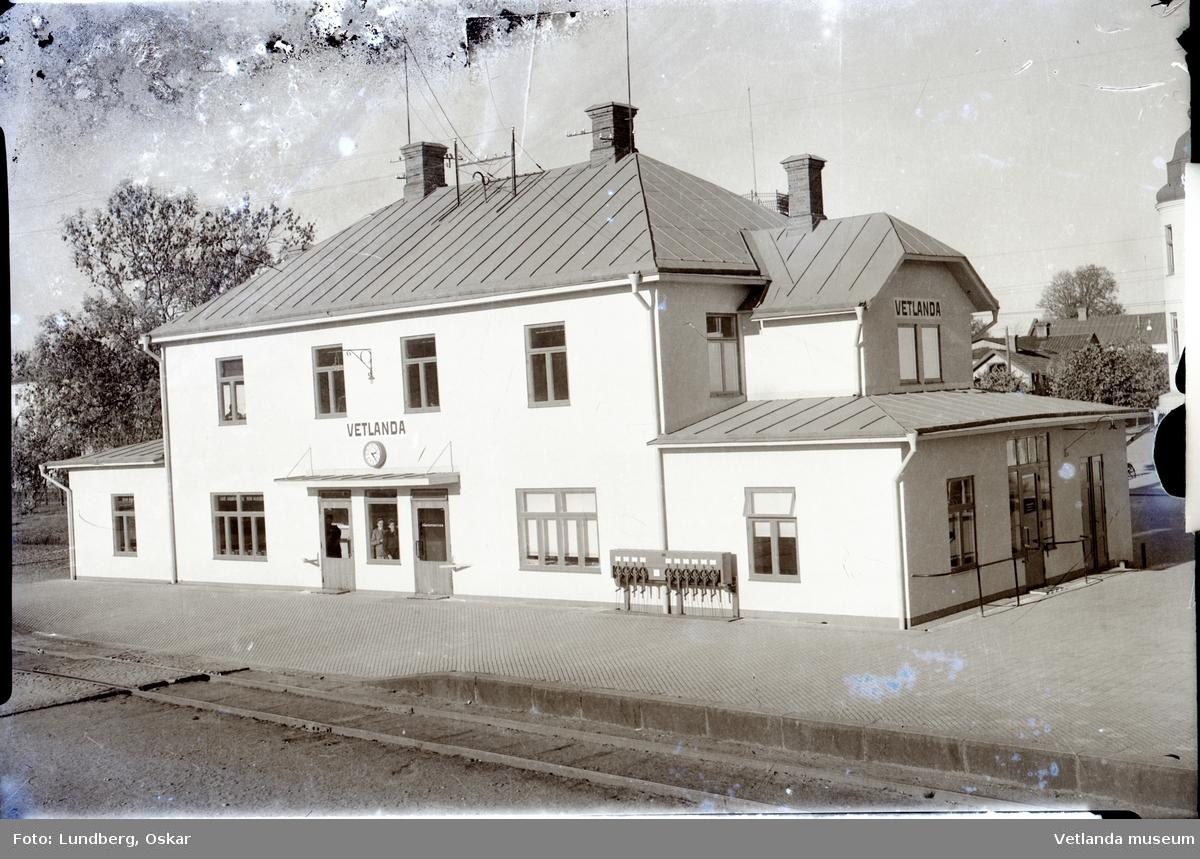 Järnvägsstationen i Vetlanda.