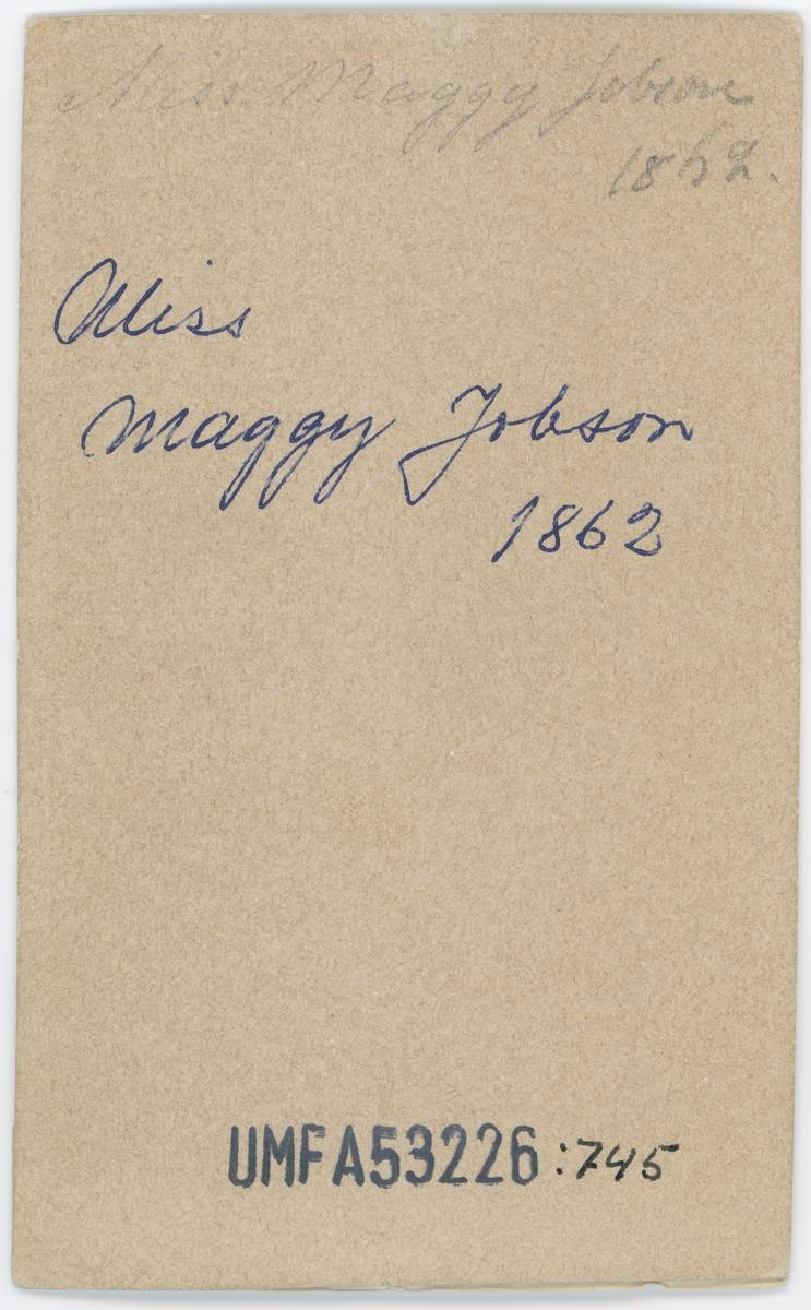 Miss Maggi Jobson, 1862.