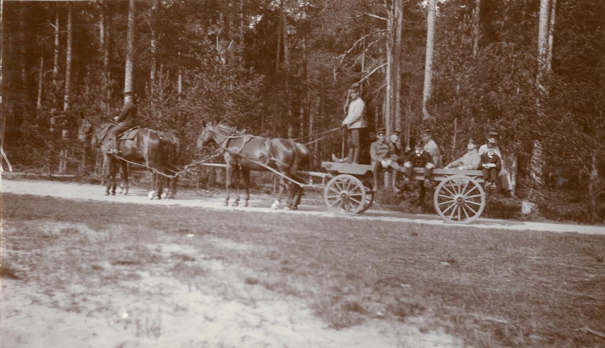 Transport med hästvagn.