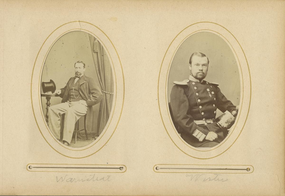 Porträtt av Kanaris Alexis von Warnstedt, underlöjtnant vid Andra livgrenadjärregementet I 5.  Se även bild AMA.0001935 och AMA.0001975.