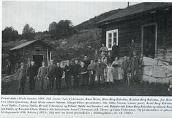 Privat skule i Hesla hausten 1894. Frå v. Lars Uchermann,Knu