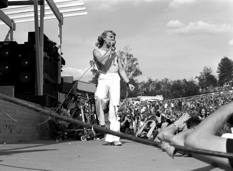 Jahn Teigen med Popol Ace på Ragnarock i 1974. Foto: Aage Storløkken