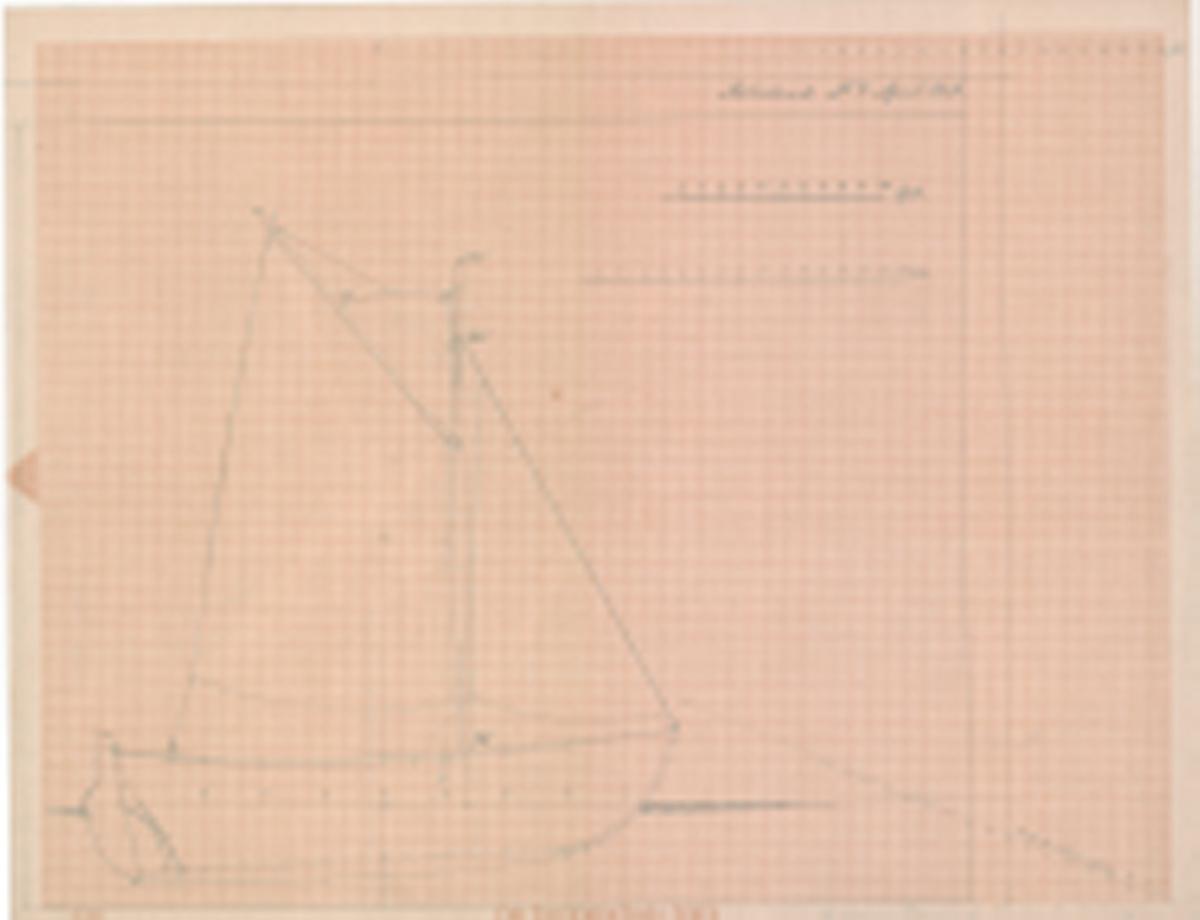 Seiltegning/sideriss med seilføring motorfiskebåt til Dr. Sandborg.