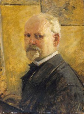 Selvportrett av Oscar Wergeland. Malt ca. 1900. Oslo museum.