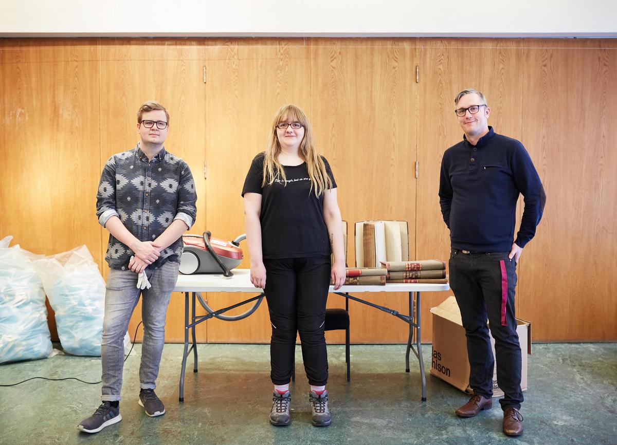 (Fra venstre) Traineene Nikolai og Isabelle,  og prosjektleder i MiA Trainee Markus Bølgen Bronebakk (Foto/Photo)