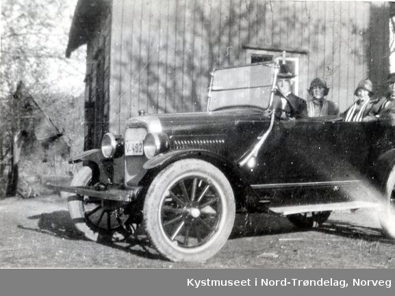 Rørvik,en av de første bilene