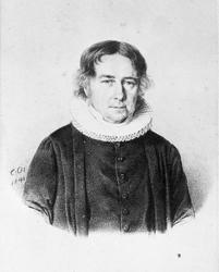 Portrett av prost Johan Nielsen Vogt, tegning datert 1841. H