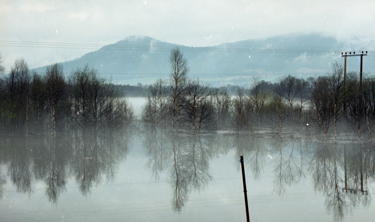 Flom-bilder. Oversvømte jorder