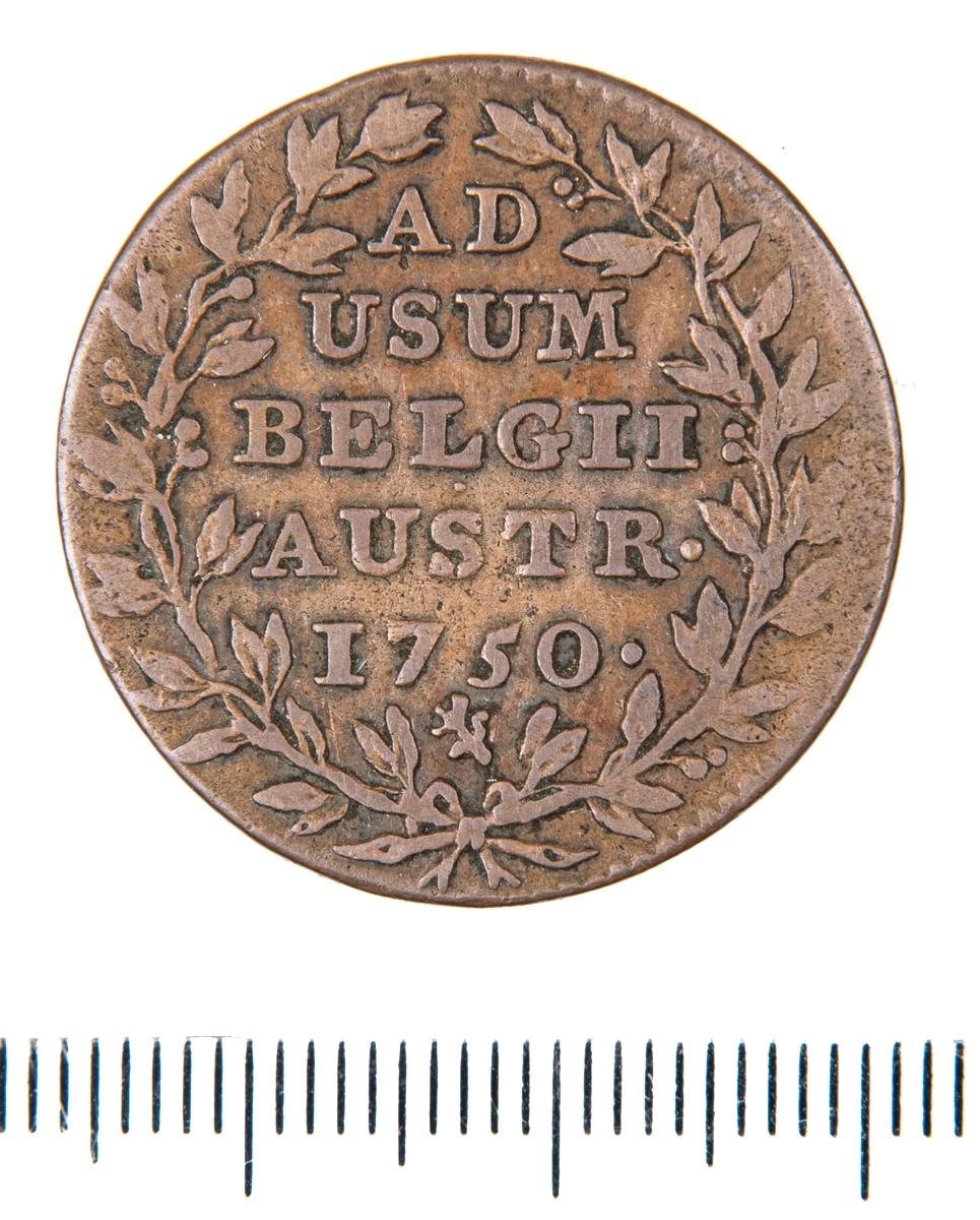 Mynt, Belgien (Österrikiska Nederländerna), 1750, 2 Liards.