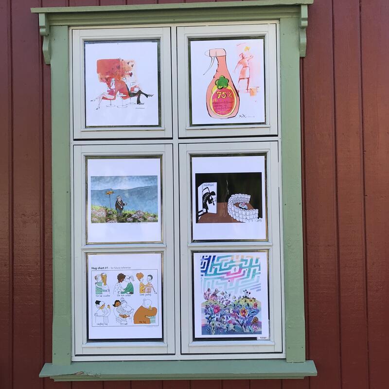Tegninger av Randi Matland, Karl Gundersen, Sven Tveit, Herbjørn Skogstad, Kaia Ødegaard og Åshild Irgens (Foto/Photo)