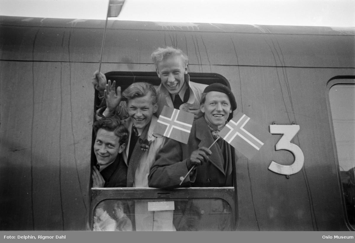 Østbanestasjonen, studenter, fanger i Buchenwald, hjemkomst