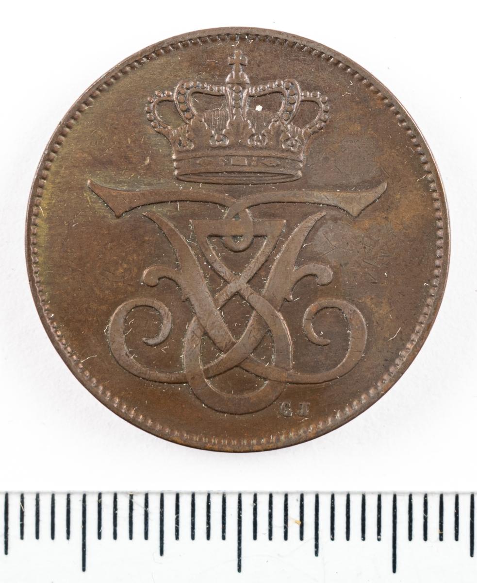 Mynt, Danmark, 1907, 5 Öre.