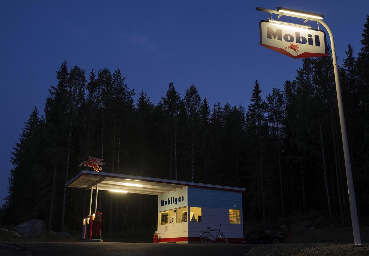 Mobil-stasjon på Norsk vegmuseum. Foto: Morten Reiten (Foto/Photo)