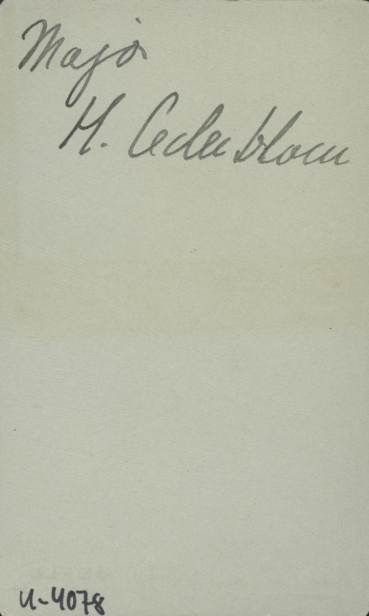 Major H. Cederblom.