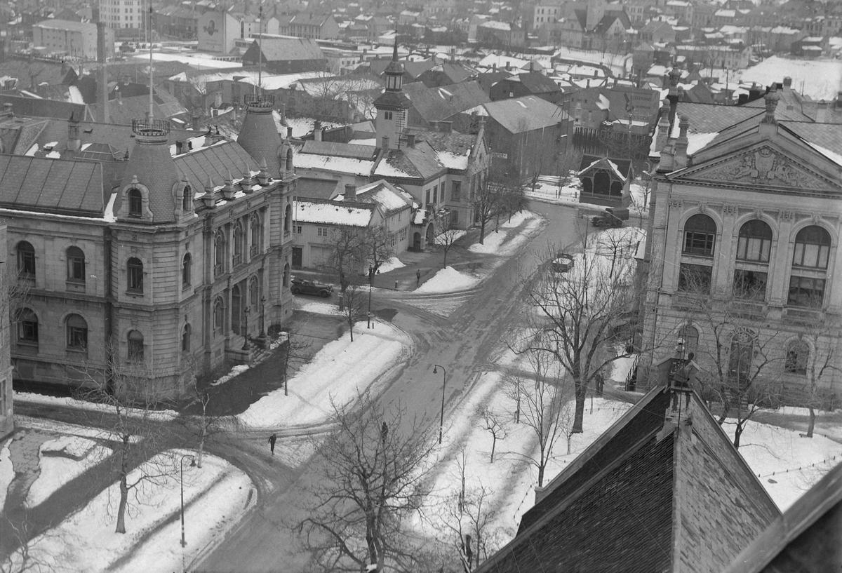Utsikt fra tårnet i Vår Frue kirke