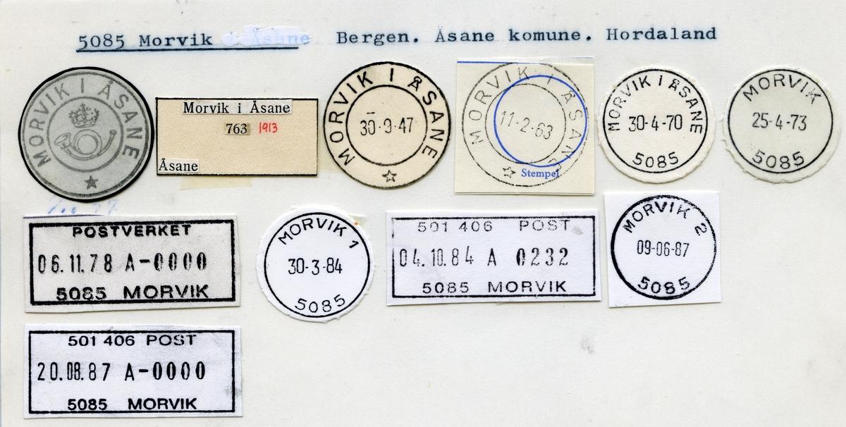 Stempelkatalog  5085 Morvik, Åsane kommune, Hordaland