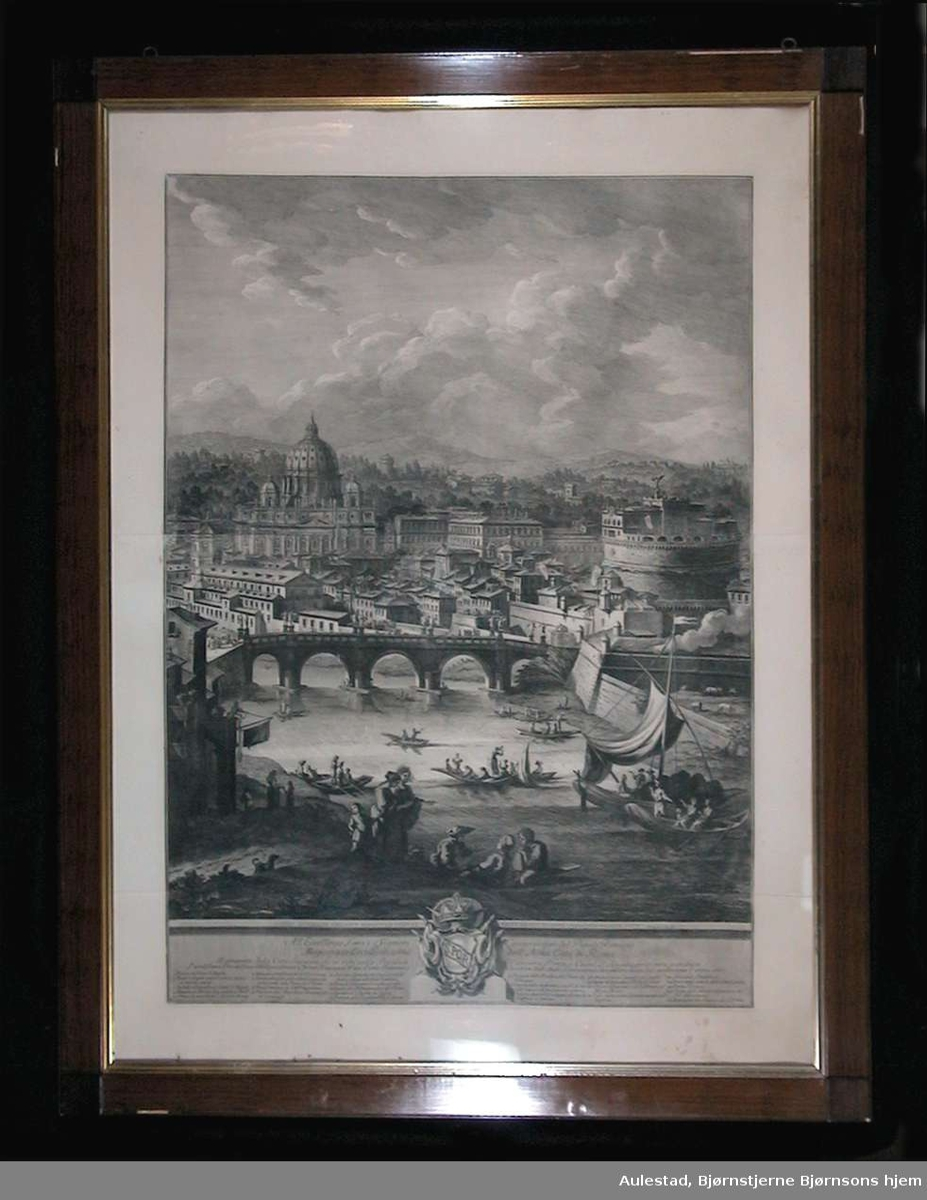 Bybilde fra Roma: Ponte Adriana og St. Angelo borgen.