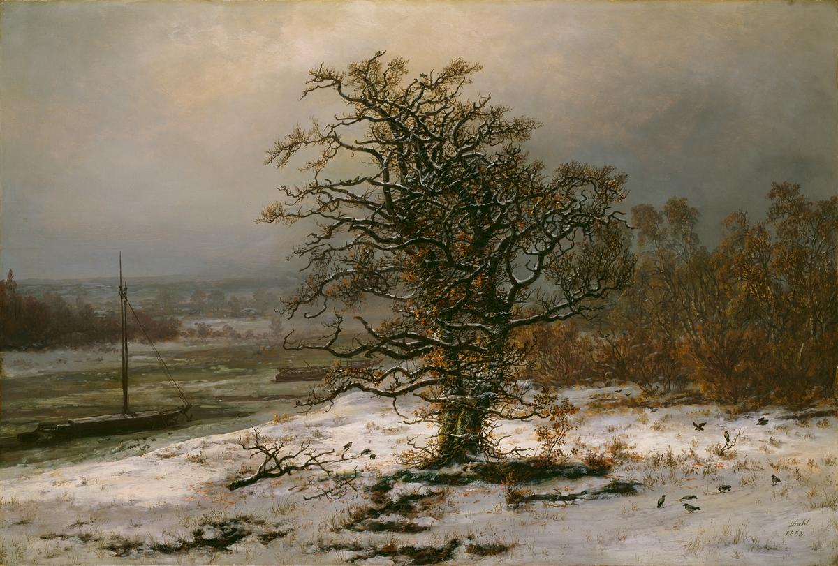 Vinterdag ved Elben [Maleri]