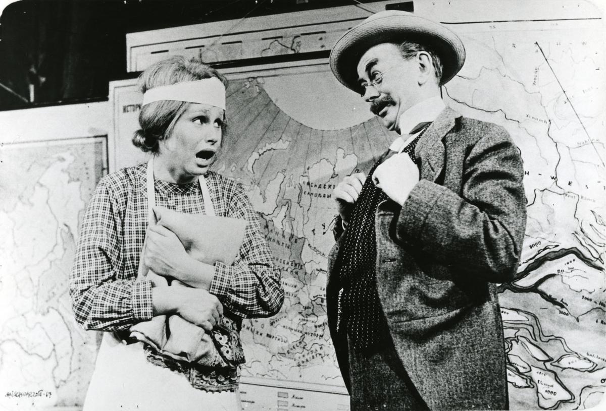 """Teater,""""Geografi og Kjærlighet"""", 1967, repro"""