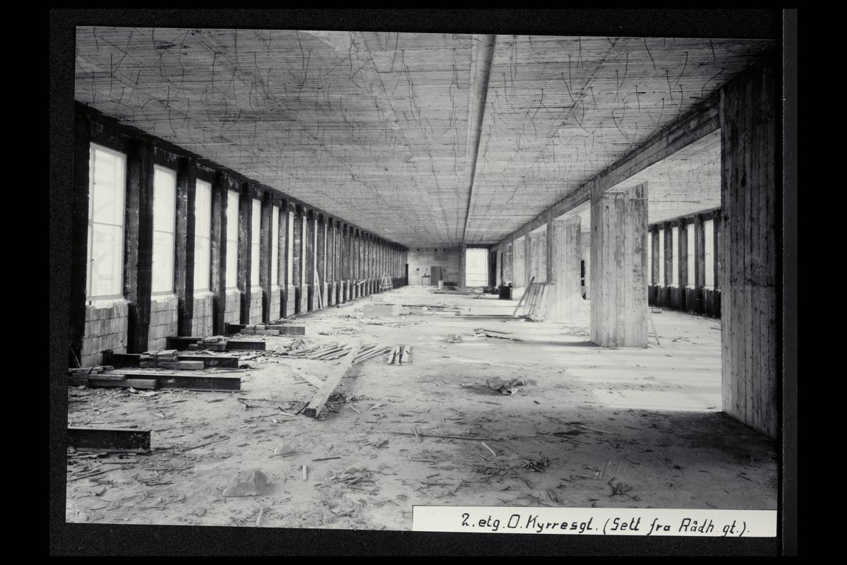 interiør, postkontor, 5002 Bergen, nybygg, under oppføring
