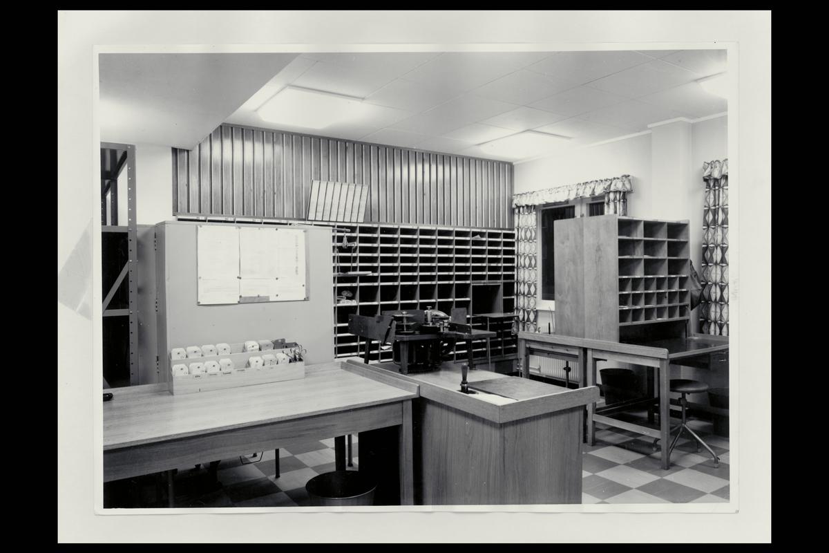 interiør, postkontor, 9900 Kirkenes, sorteringsreol