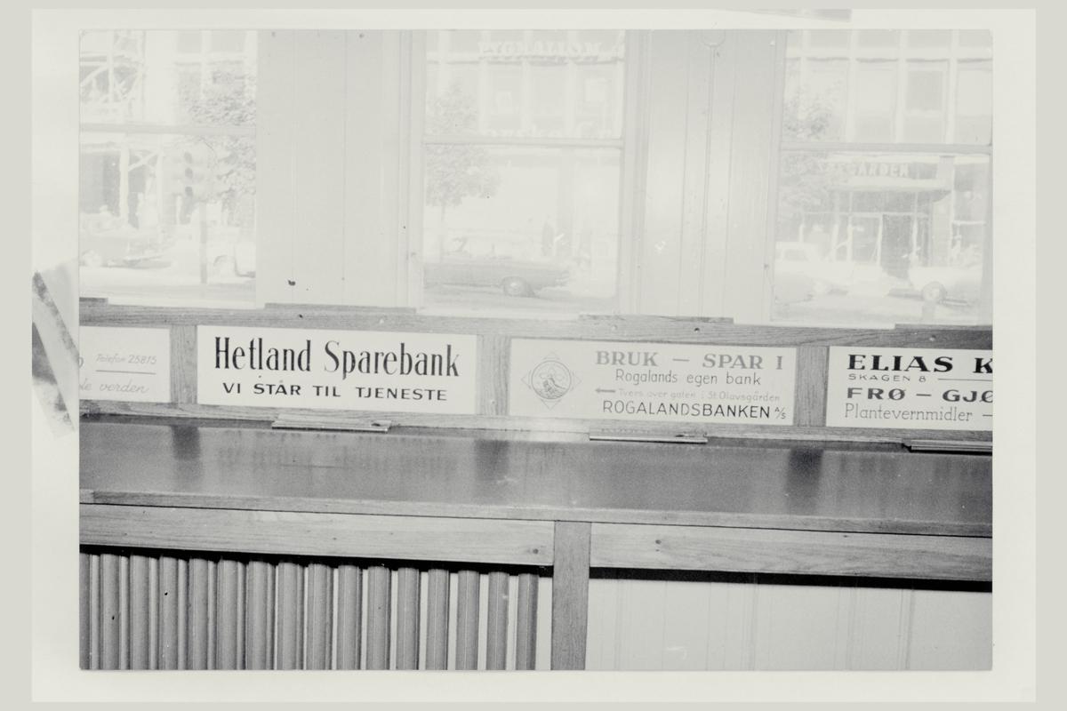 interiør, postkontor, 4001 Stavanger, reklameskilt
