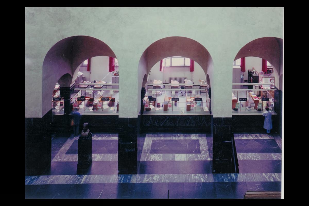 interiør, postkontor, Oslo Sentrum, publikumshallen