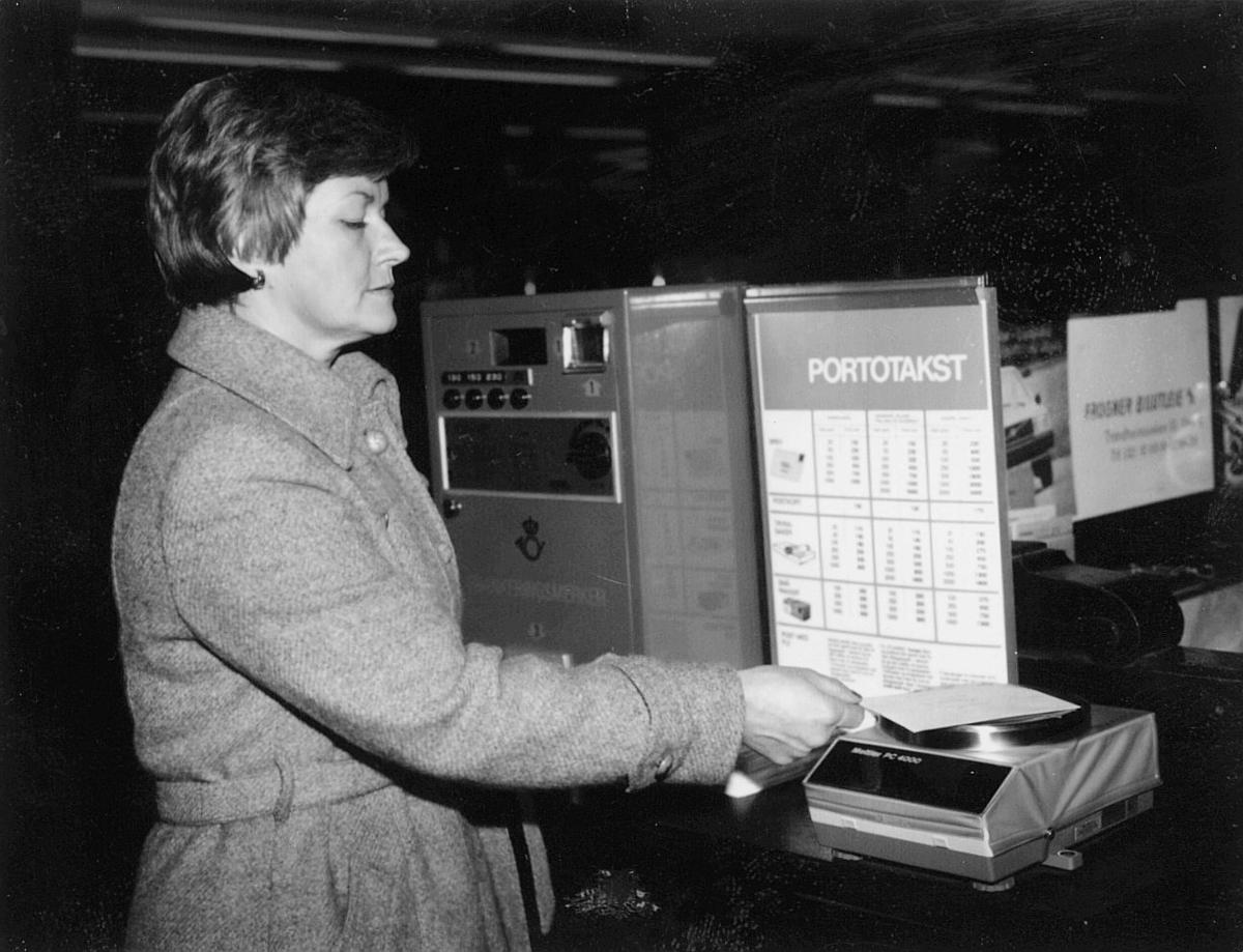 postbehandling, mekanisering, Inger Hammer