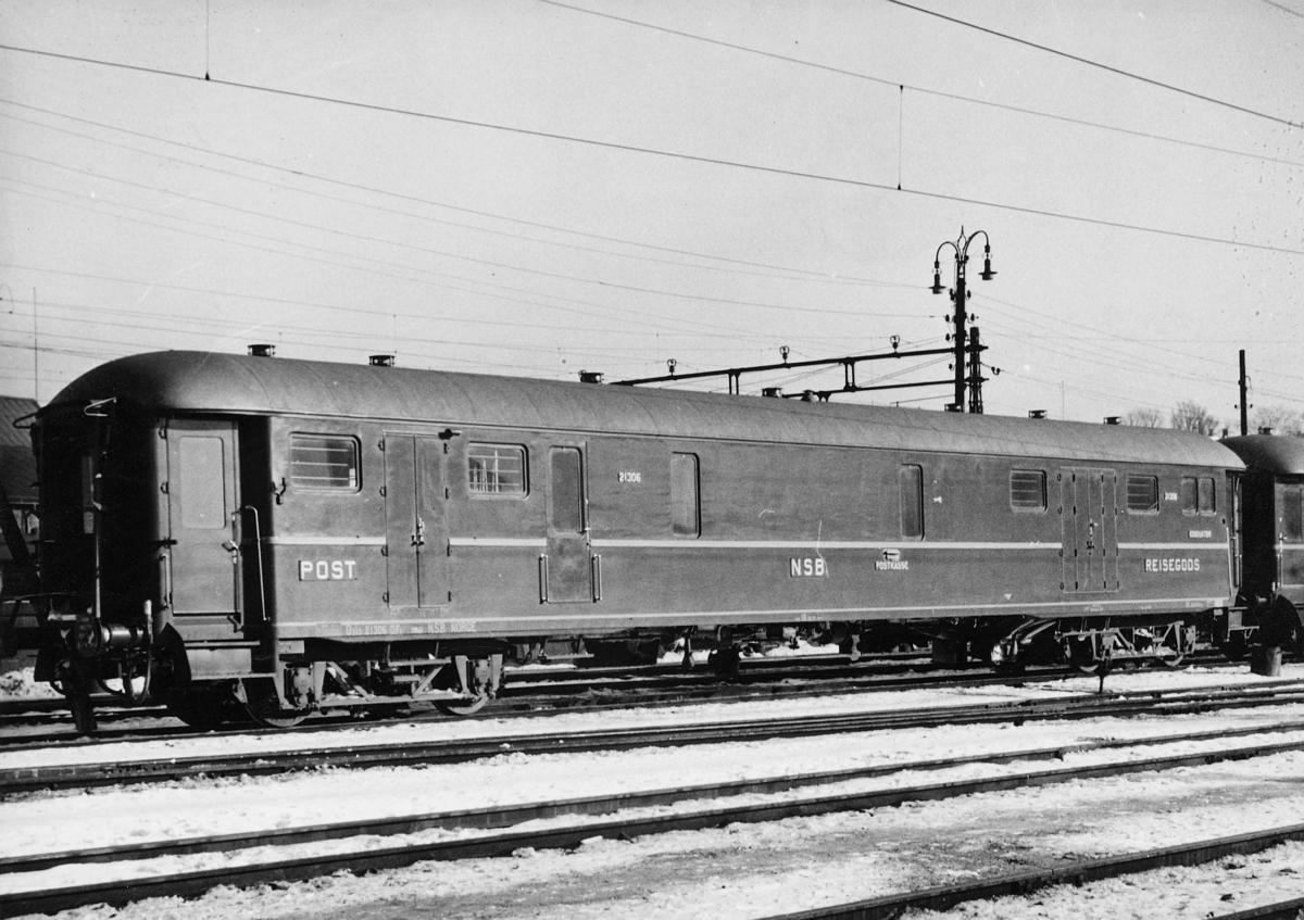 transport, tog, Bergensbanen, postvogn, eksteriør