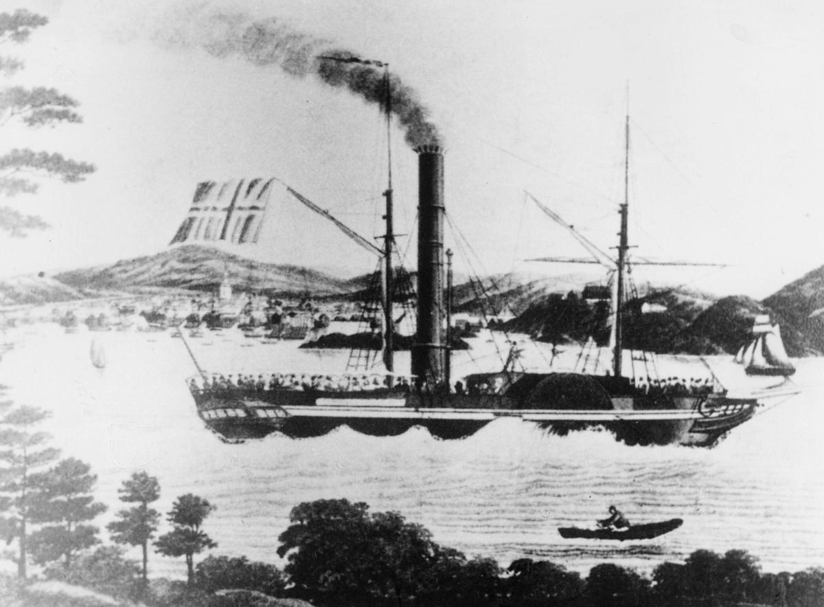 "Transport båt, eksteriør, ""Constitutionen"", i Kristiansand havn."