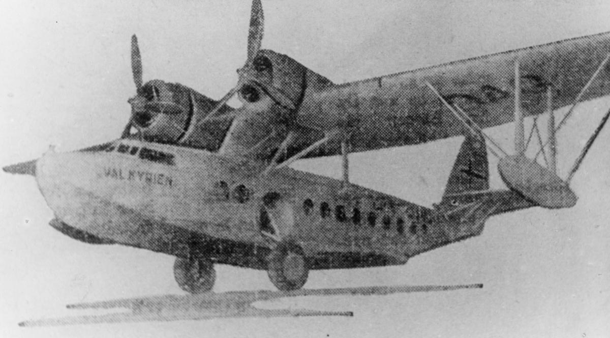 transport, fly, eksteriør, D.N.L.'s Valkyrien Sikorsky S - 43 amfibium, Oslo-Stockholm