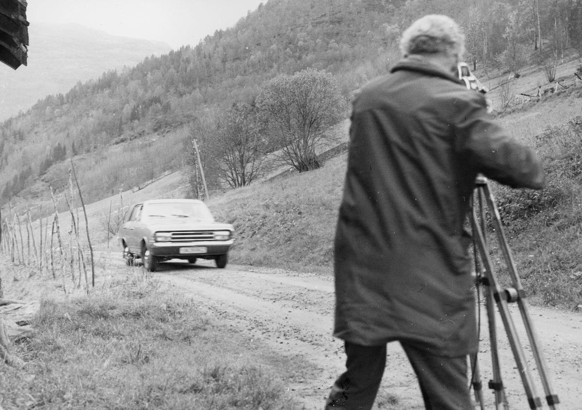 omdeling, Voss, postbud, bil, fotograf