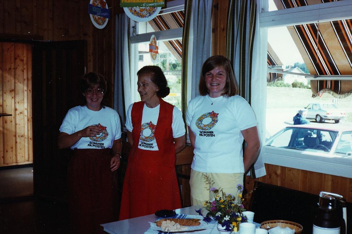 kampanje, Skreia, sommer på posten, tre kvinner