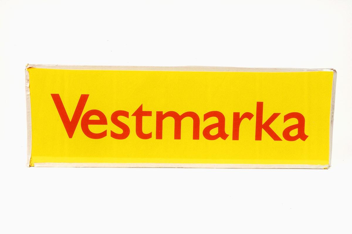Postmuseet, gjenstander, skilt, stedskilt, stedsnavn, Vestmarka.