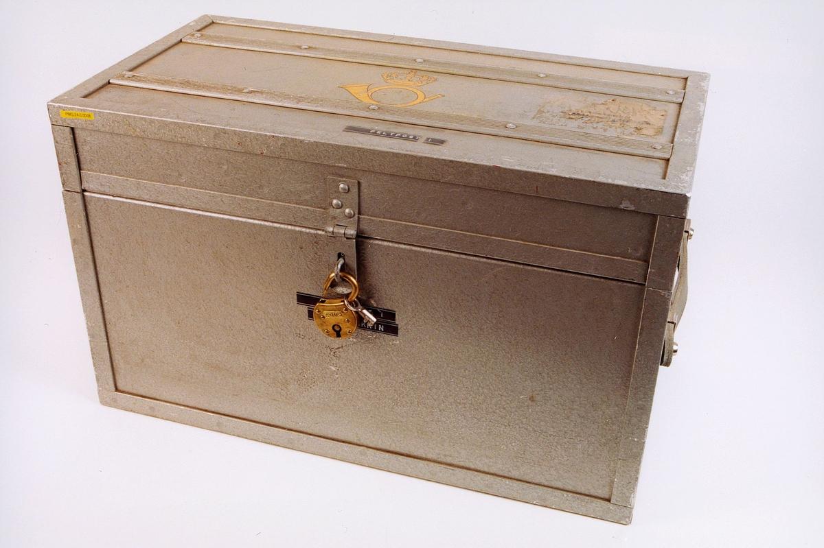 postmuseet, gjenstander, postemballasje, kasse, kiste, feltpostkasse