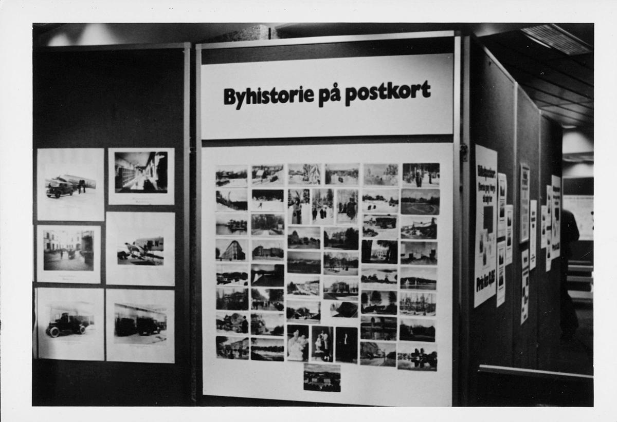 markedsseksjonen, Oslo postgård 50 år, utstilling, byhistorie på postkort, informasjon
