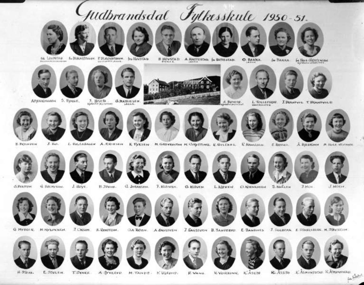 Ringebu. Gudbrandsdal fylkesskule 1950 - 1951.